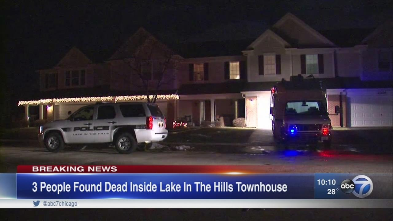 3 found dead in Lake in the Hills townhome
