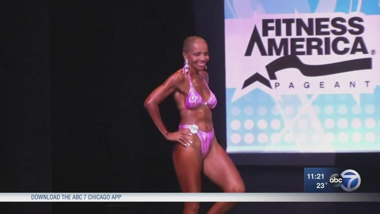 Worlds oldest female body builder in town