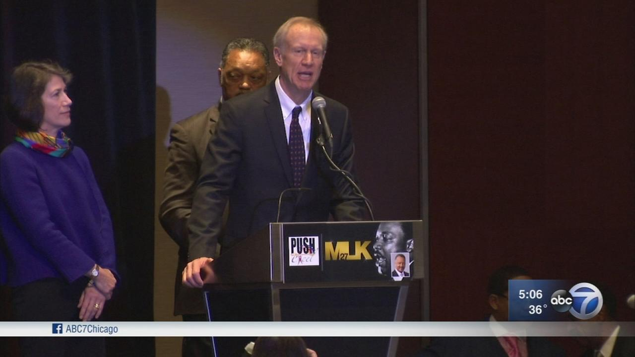 Rauner, possible opponents attend MLK breakfast