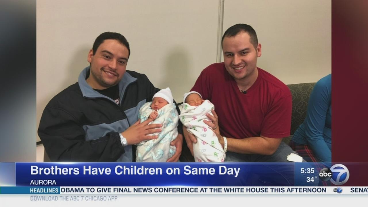 Brothers have 1st children on same day