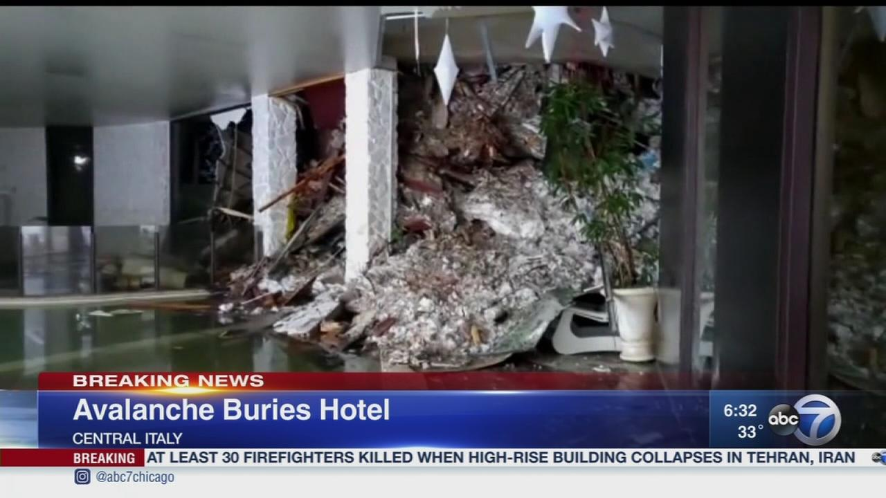 Avalanche buries hotel in Italy