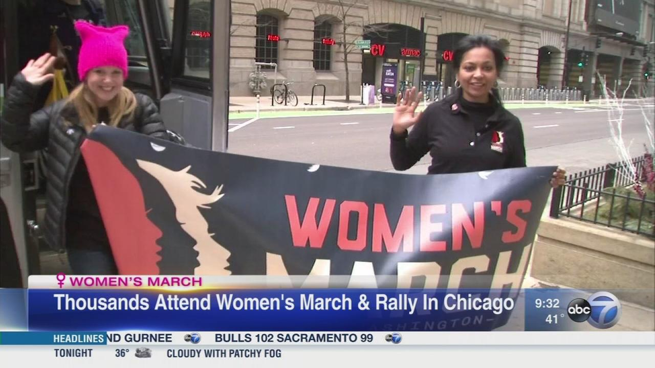 Women return to Chicago after march in D.C.