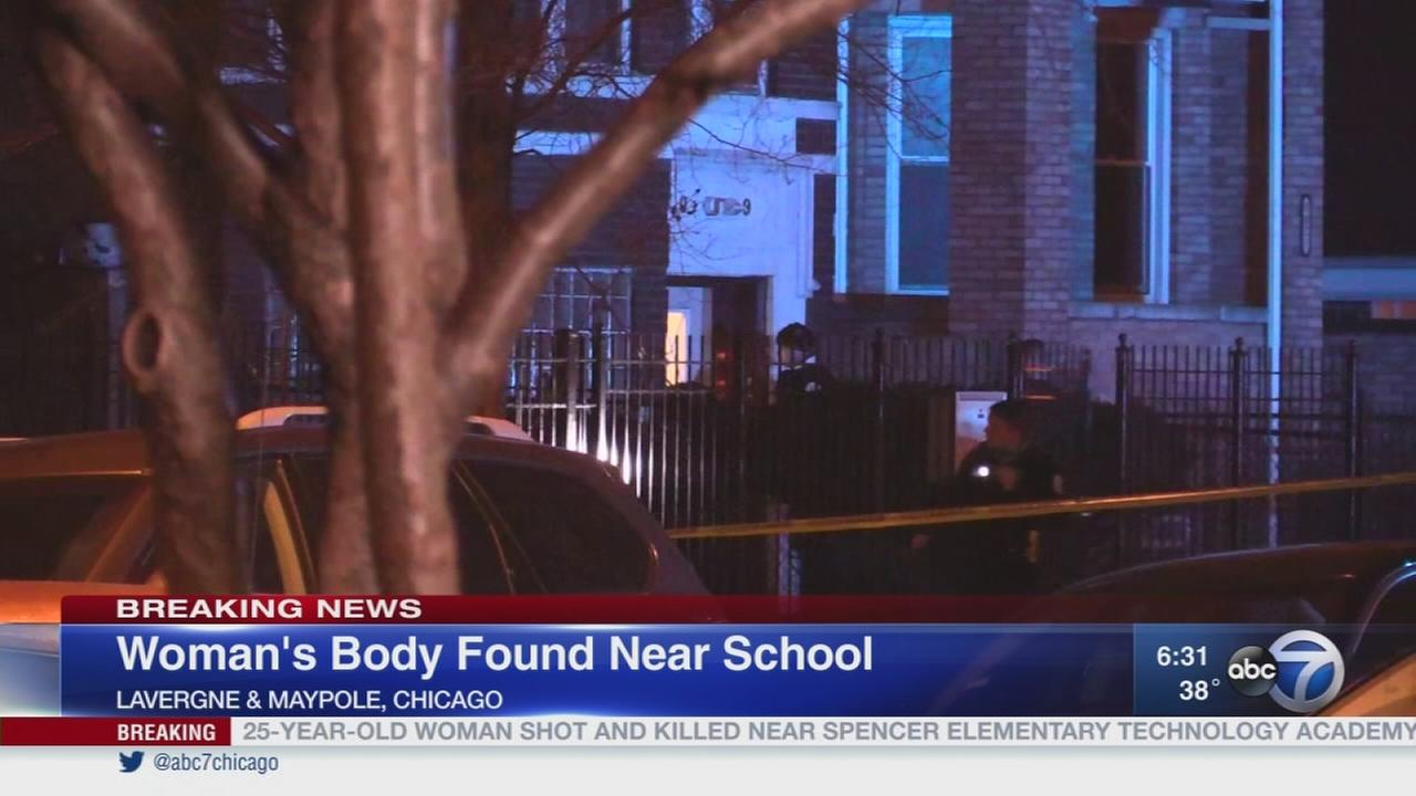 Woman found shot to death near school