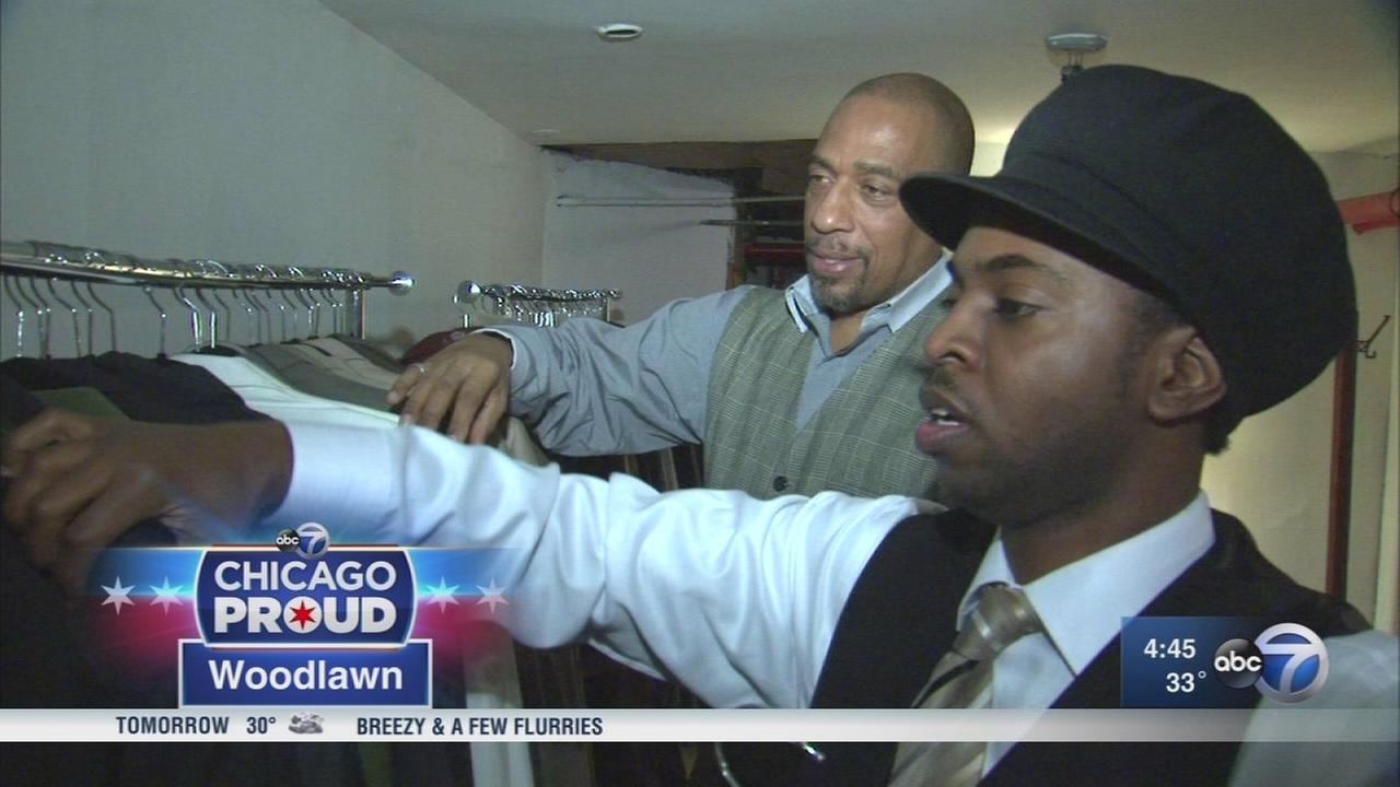 Formerly homeless man now helps others dress for success
