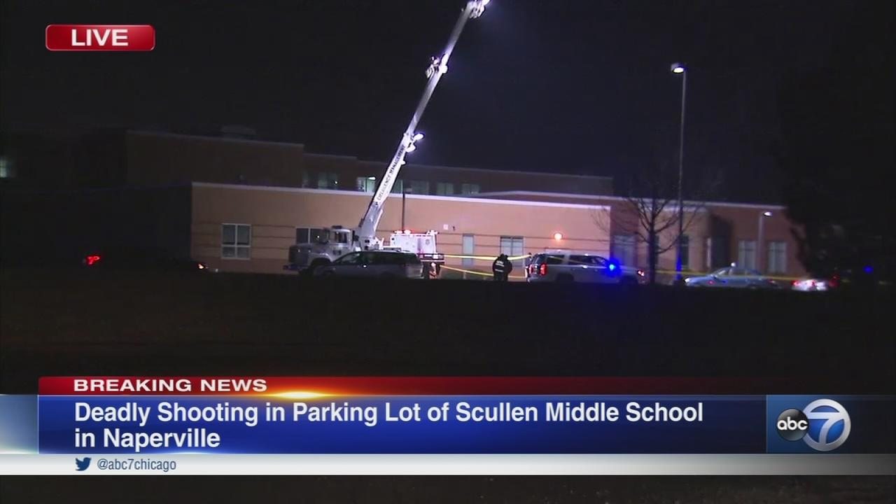 1 fatally shot in parking lot of Naperville middle school