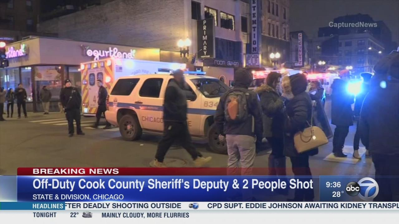 Off-duty Cook County Sheriff's deputy among 3 shot in Gold Coast