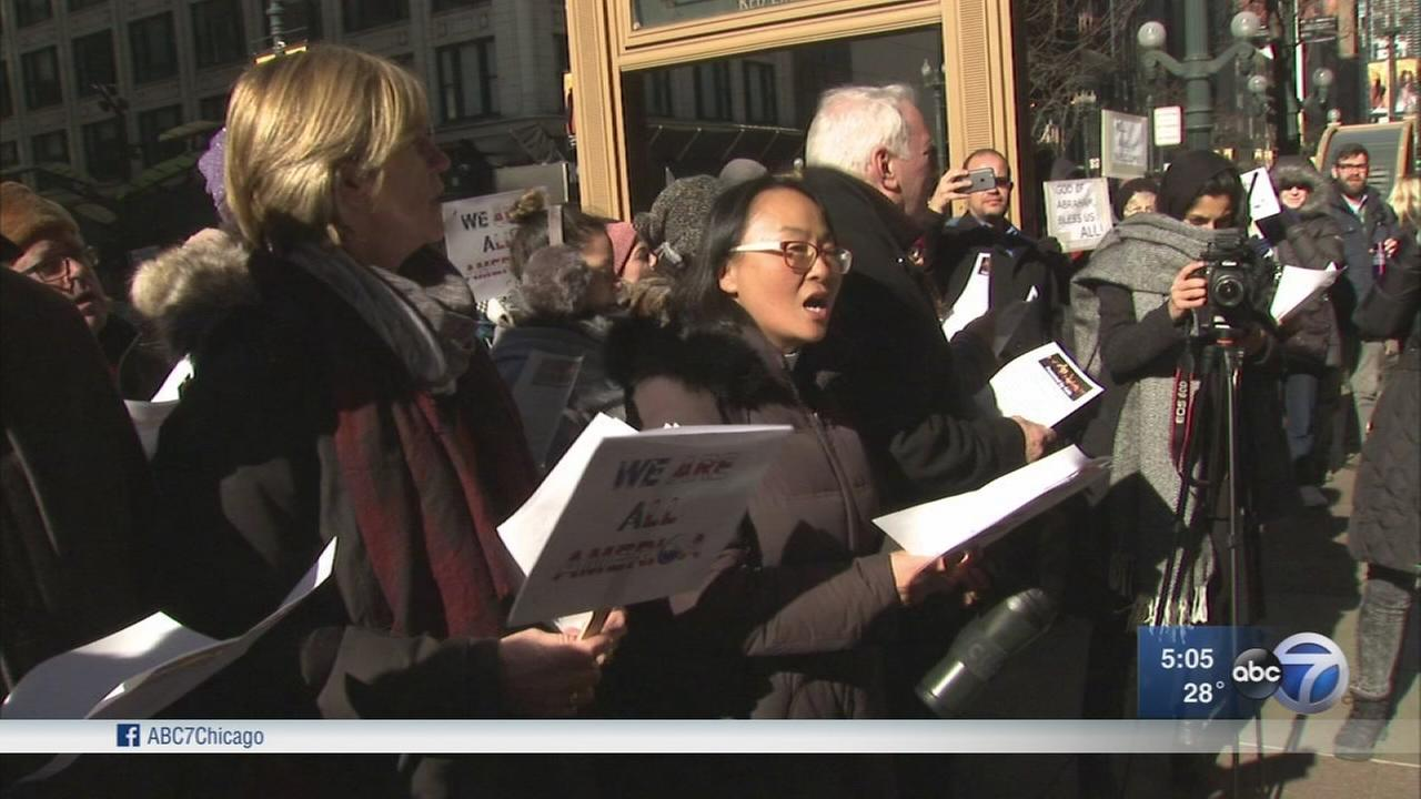 Demonstrations held in response to Trump immigration ban