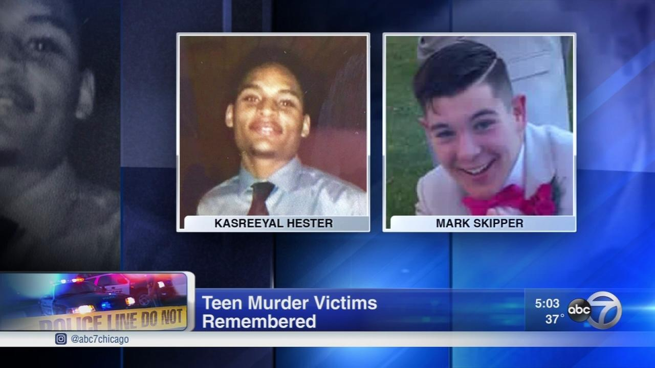 2 teens remembered a year after murder  in Gary