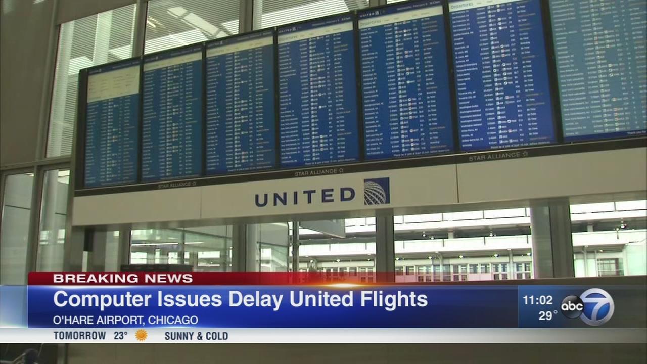 United Airlines experiencing flight delays