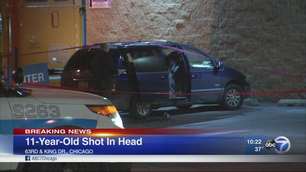 Girl, 11, shot in head on South Side