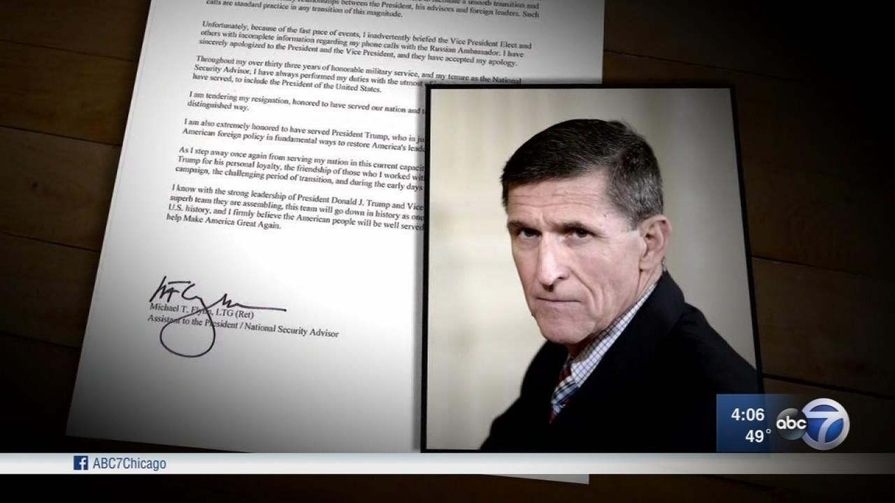 Trump asked Flynn to resign over eroding trust, White House says
