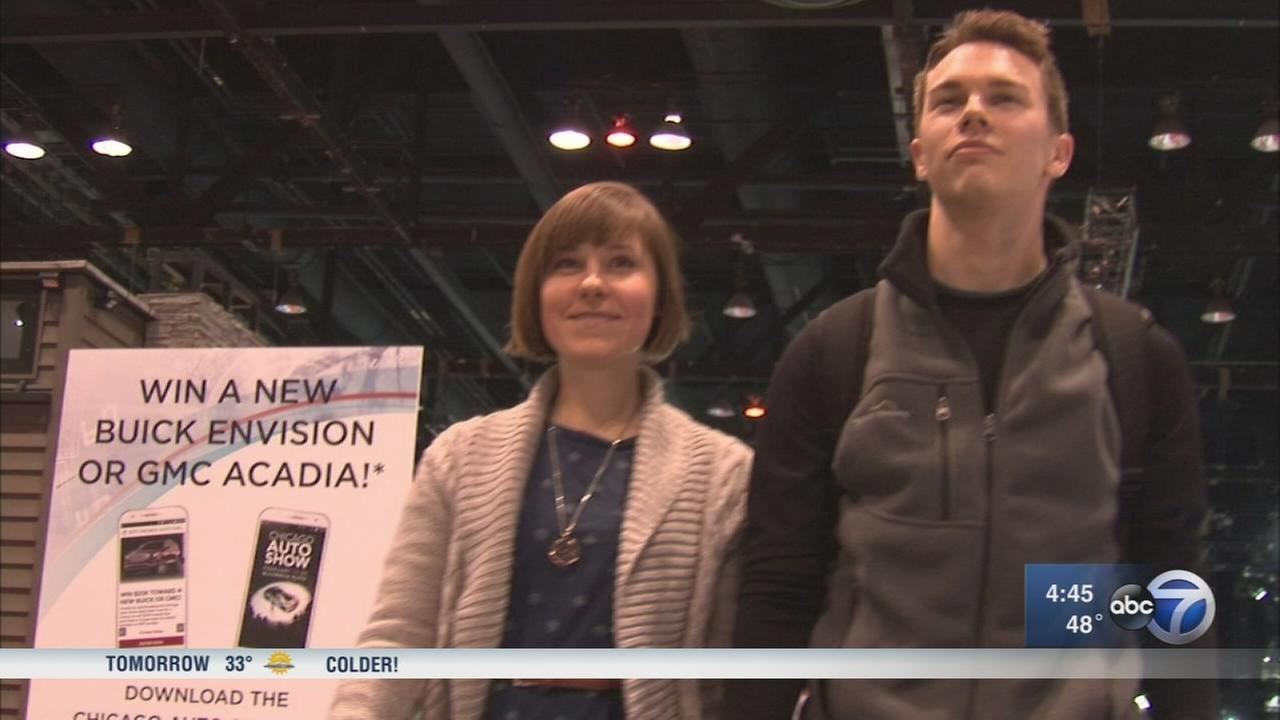 Couples celebrate Valentines Day at Chicago Auto Show