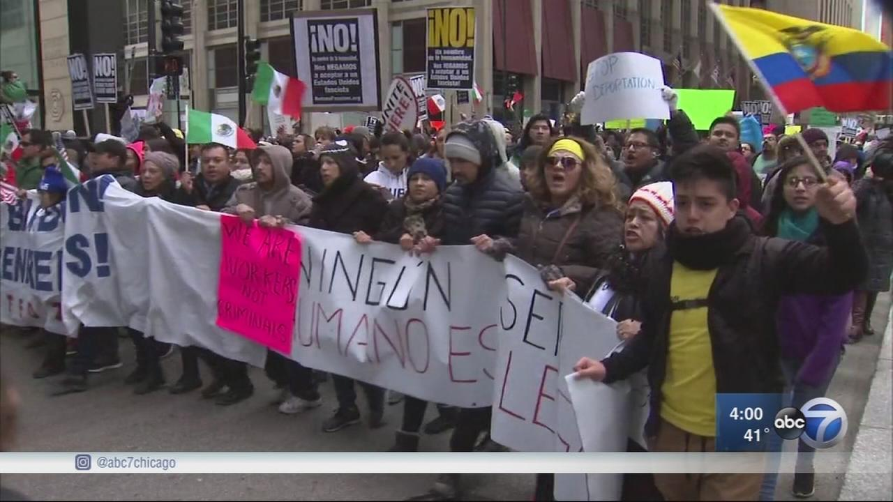 Immigrants rally as part of national day of action.