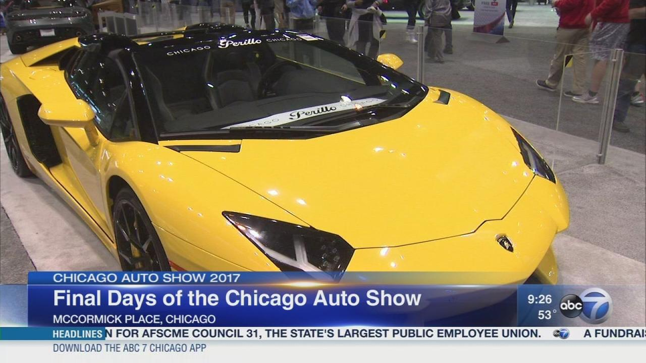 Gearing up for the final days of the Chicago Auto Show