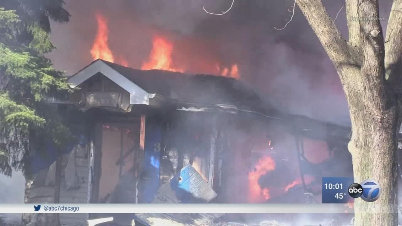 Explosion, fire displaces 2 families in Dolton
