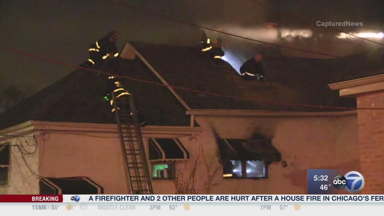 3 hurt, including firefighter, in Fernwood fire