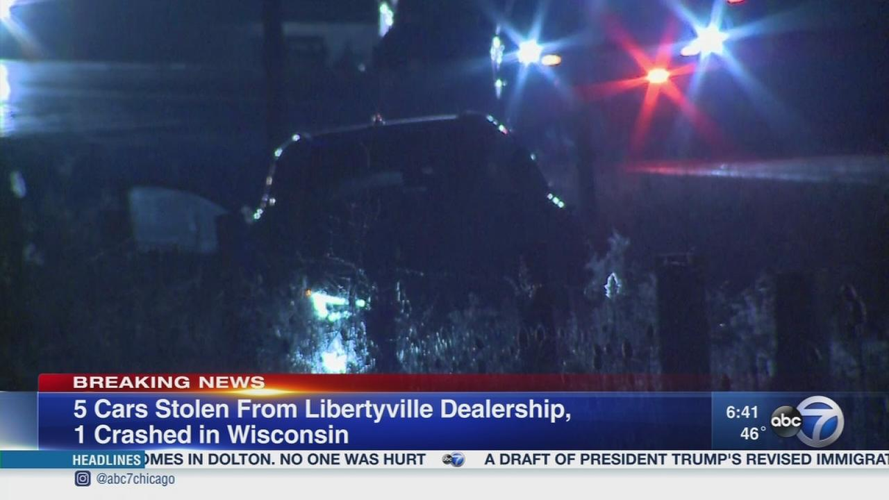 5 cars stolen from LIbertyville dealership