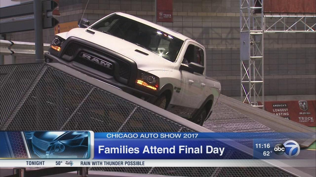 Families attend final day of Auto Show