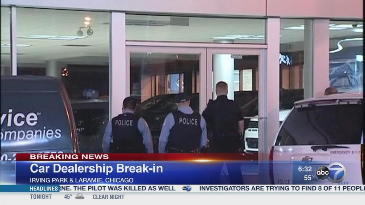 POlice investigate NW Side car dealership break-in