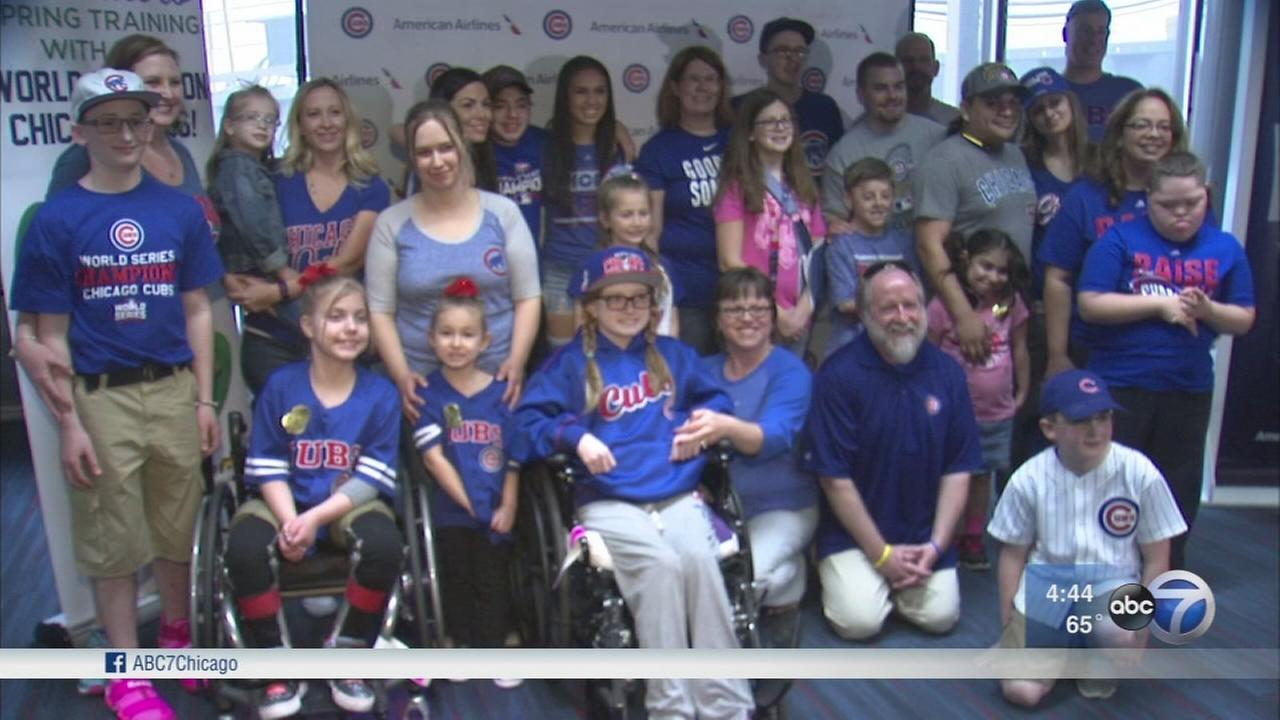 Young patients head to Cubs spring training in Mesa, Ariz.