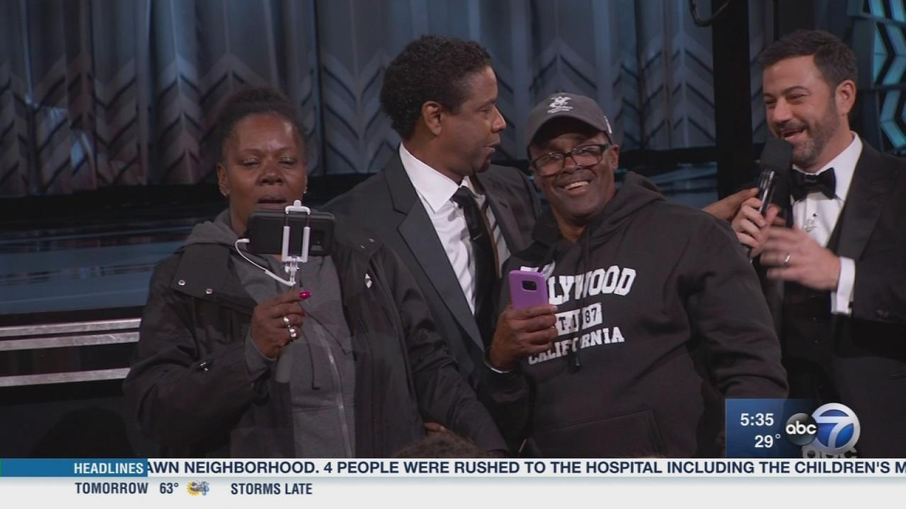 Chicago couple steals show at Oscars