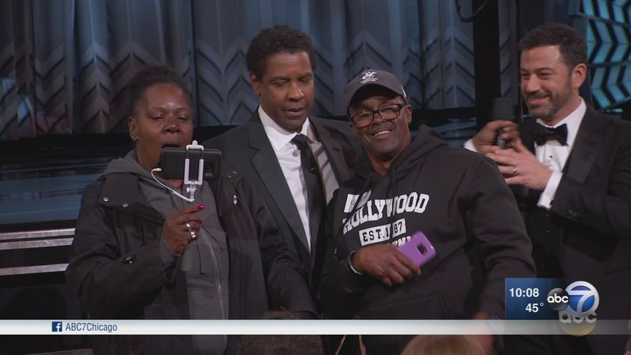 Gary from Chicago and fiancee steal show at Oscars
