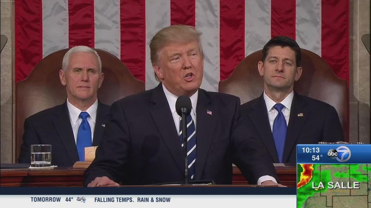 Trump addresses joint session of congress