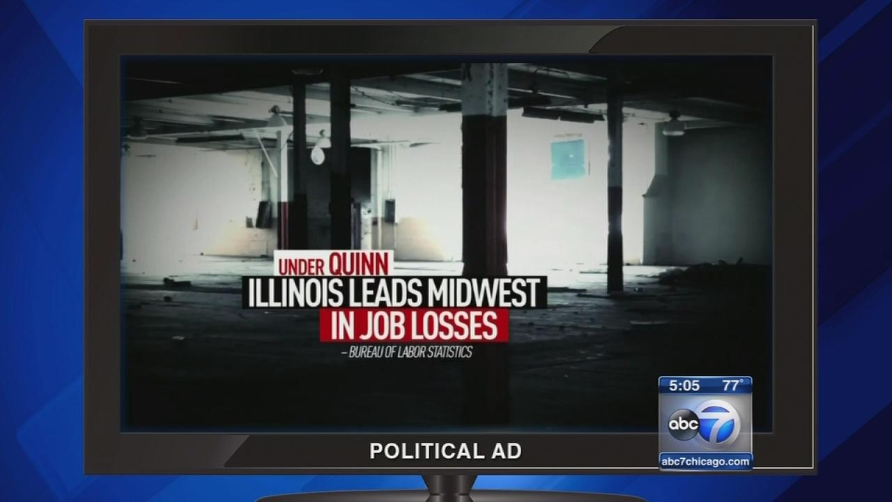 Candidate Rauner blisters Gov. Quinn in new campaign ads