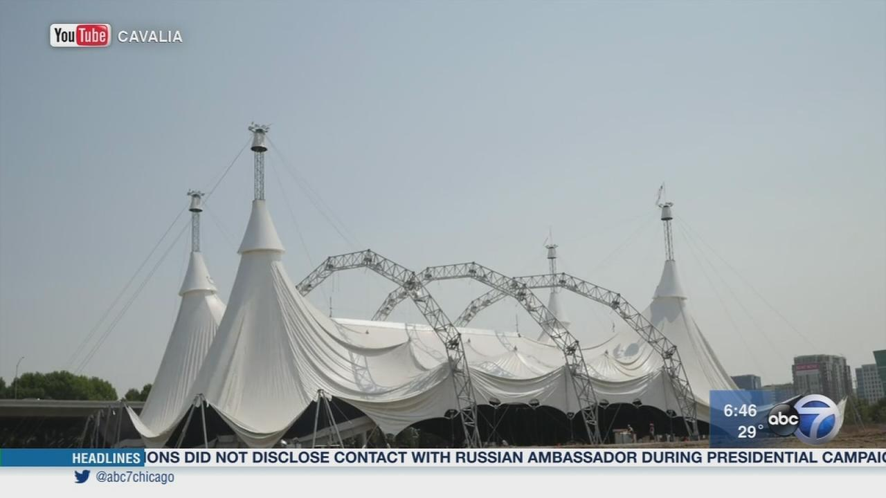 Largest touring tent at Soldier Field