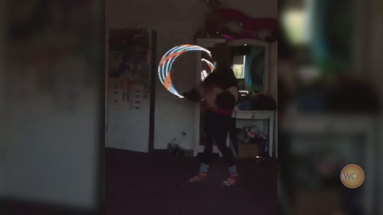 Hula-hoop dancer video goes viral