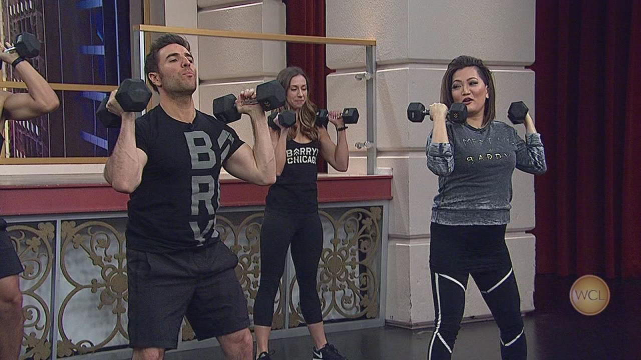 Tracy, Ryan and Ji get a Barrys Bootcamp workout