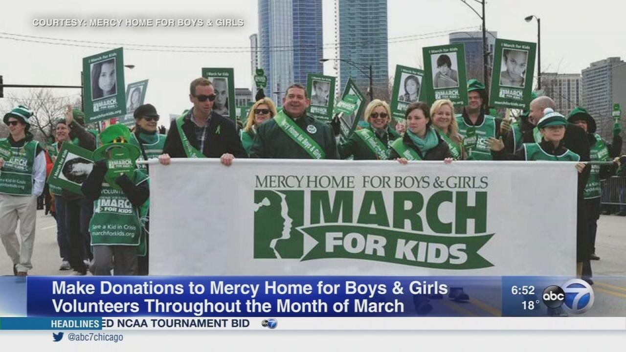 Volunteers for Mercy Home for Boys and Girls collecting donations