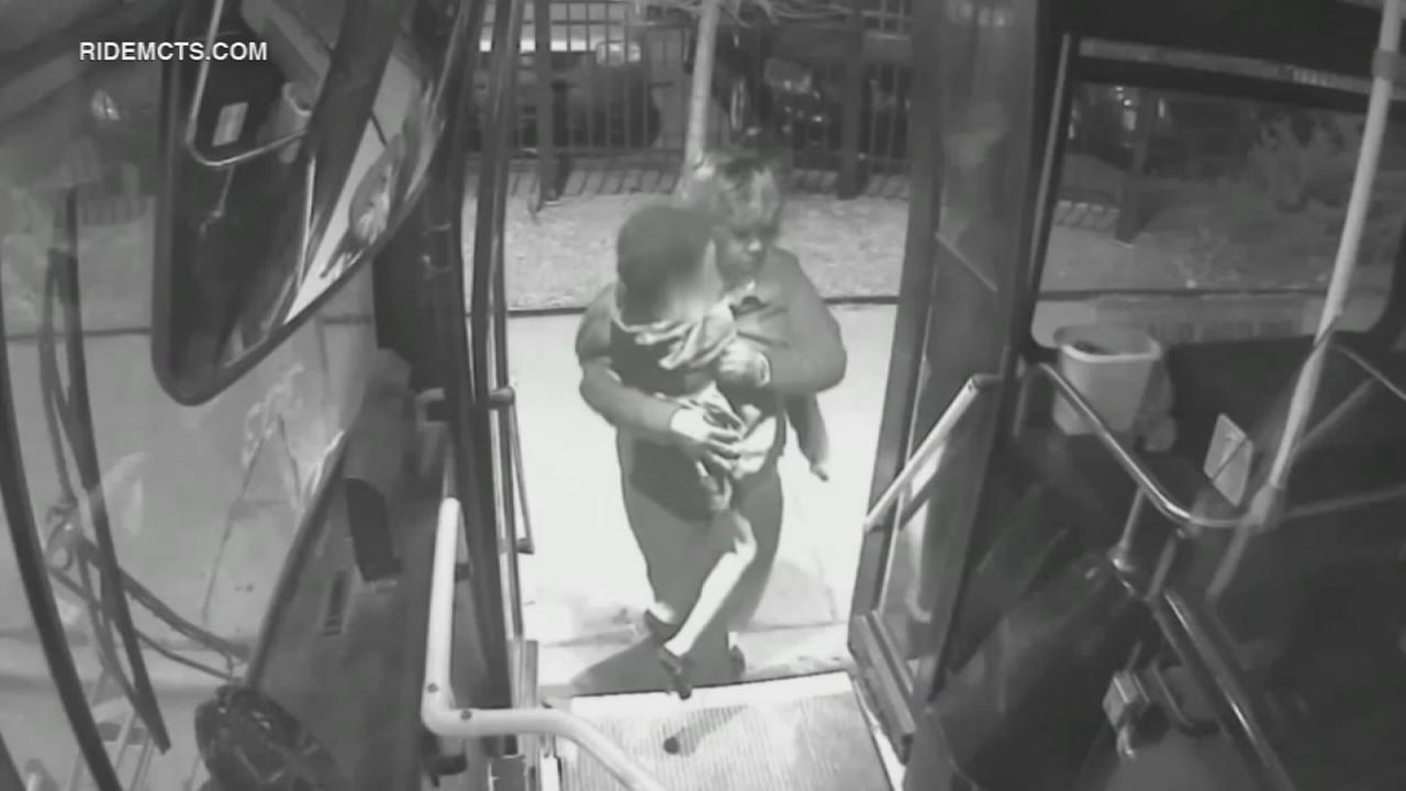 WATCH: Bus driver rescues 5-year-old wandering alone, barefoot