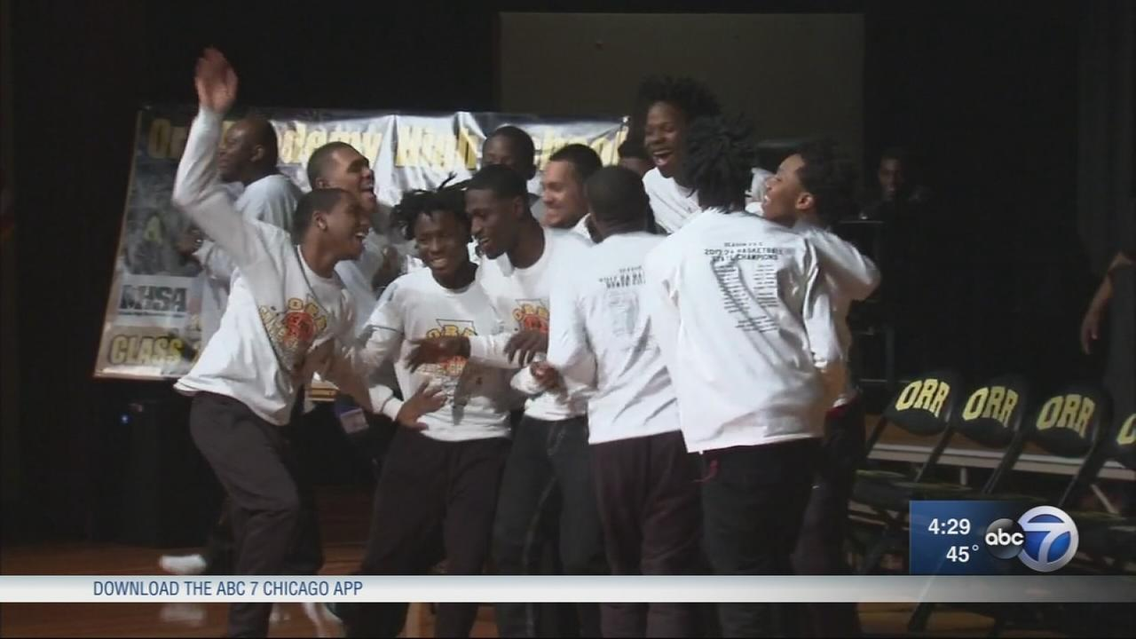 Orr High School celebrates state championship win