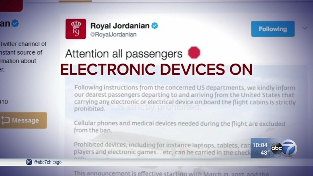 Carry-on electronics rules changing on flights from some Middle East airports