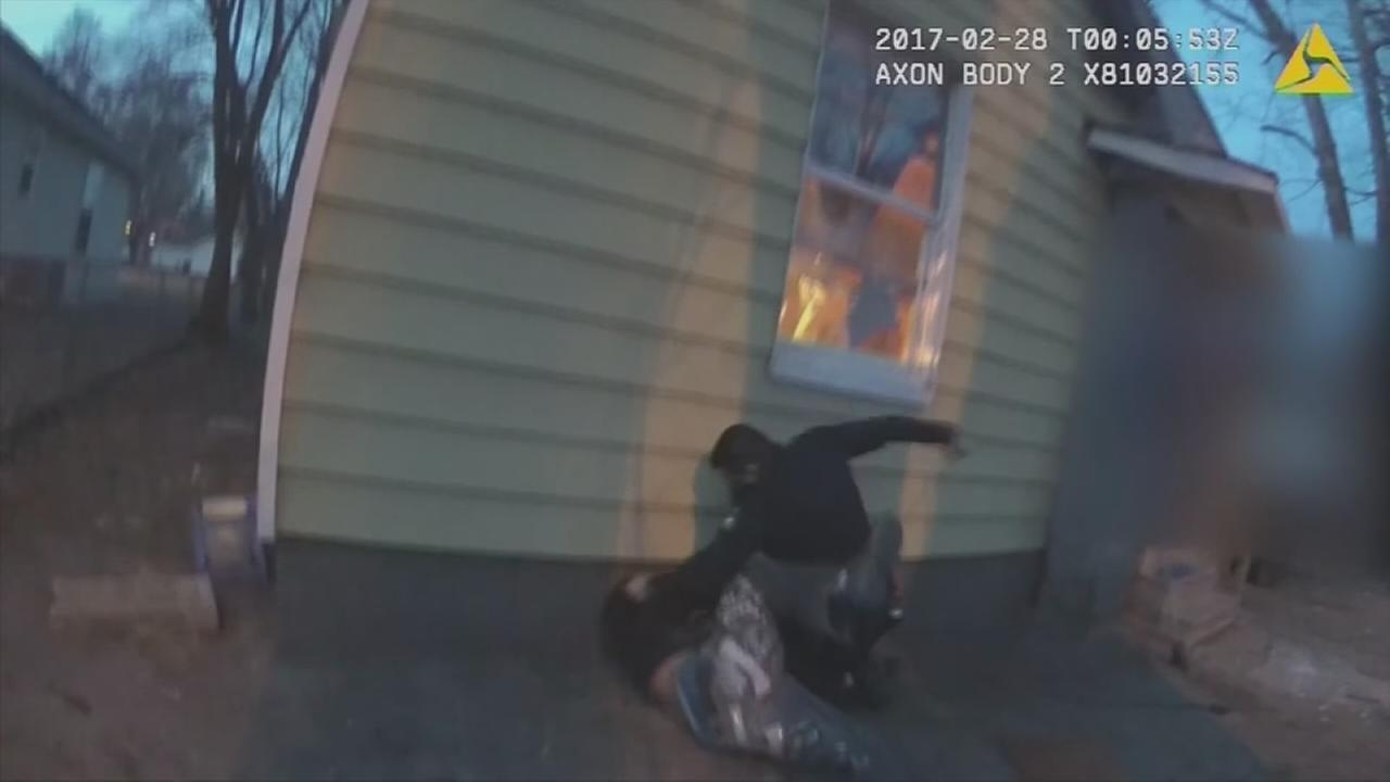 Body cam video shows officer beating teen