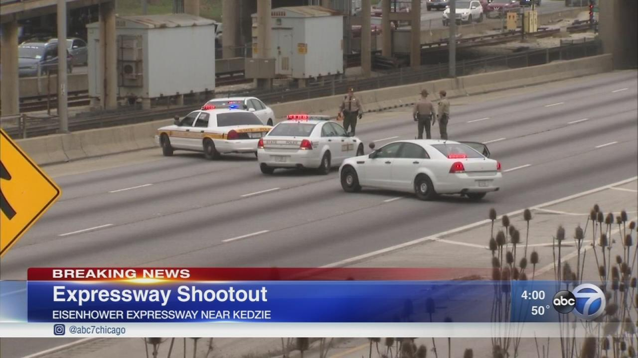 Reports of gunfire shut down Eisenhower Expwy