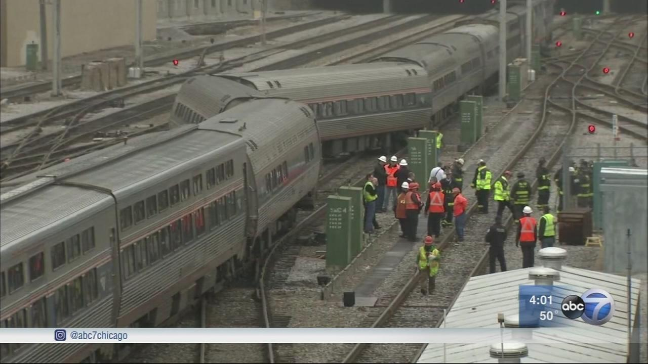 Amtrak derails near Union Station