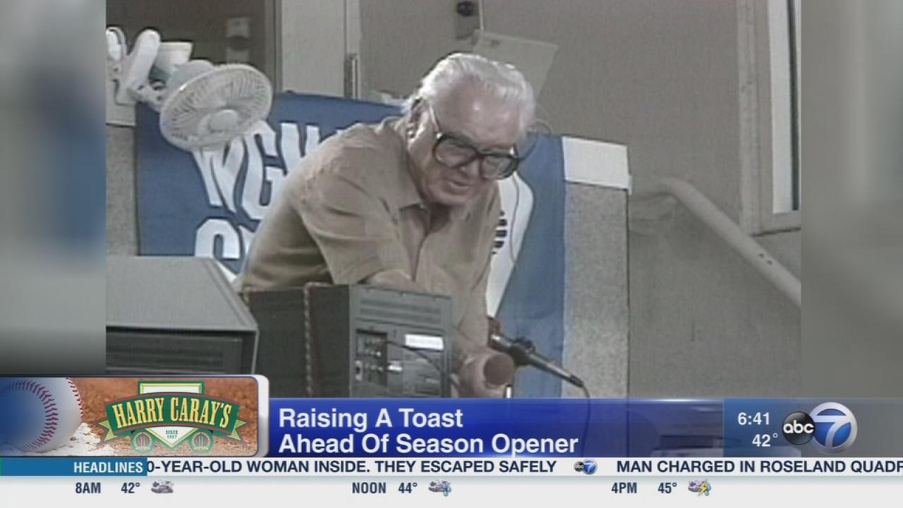 Toast Harry Caray before Cubs home opener