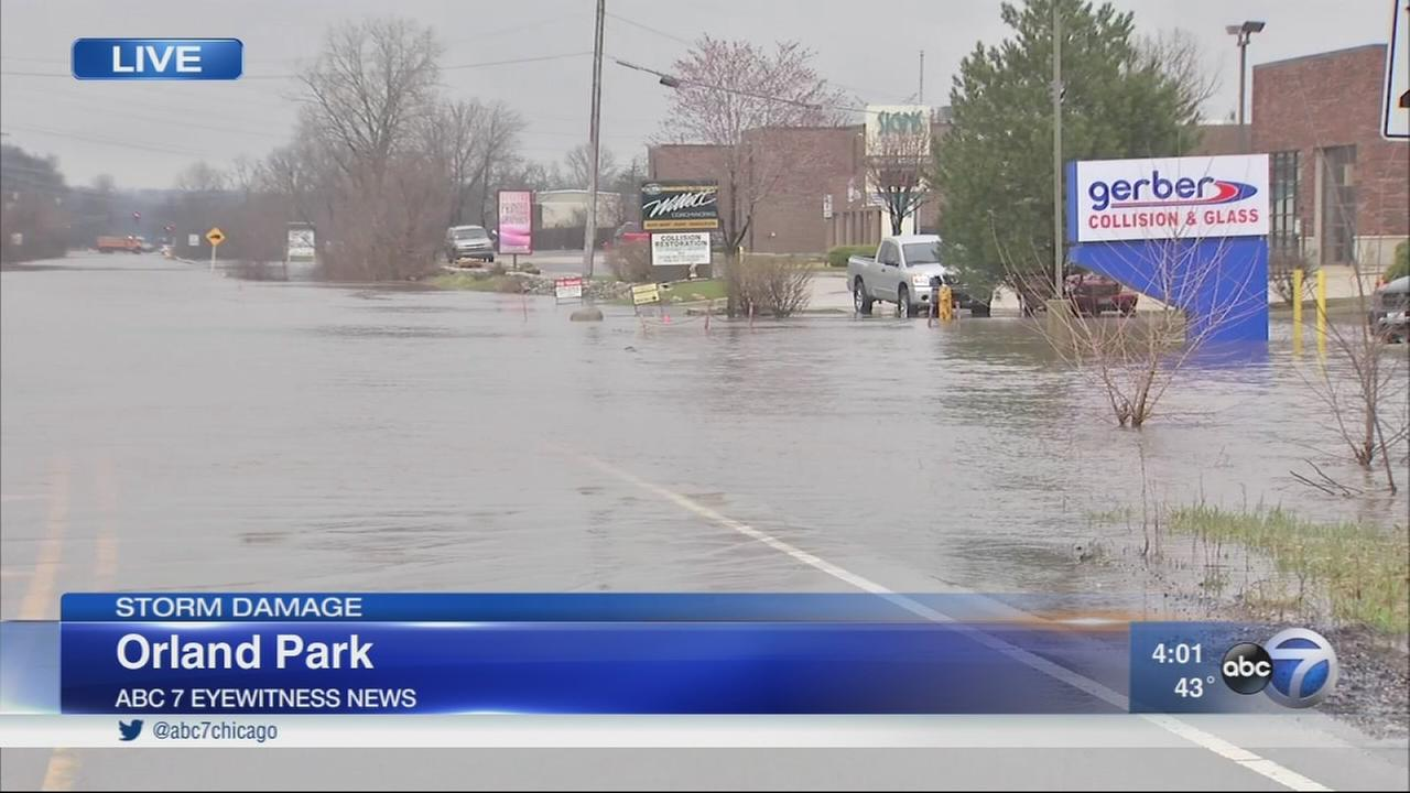 Flooding reported after heavy rains