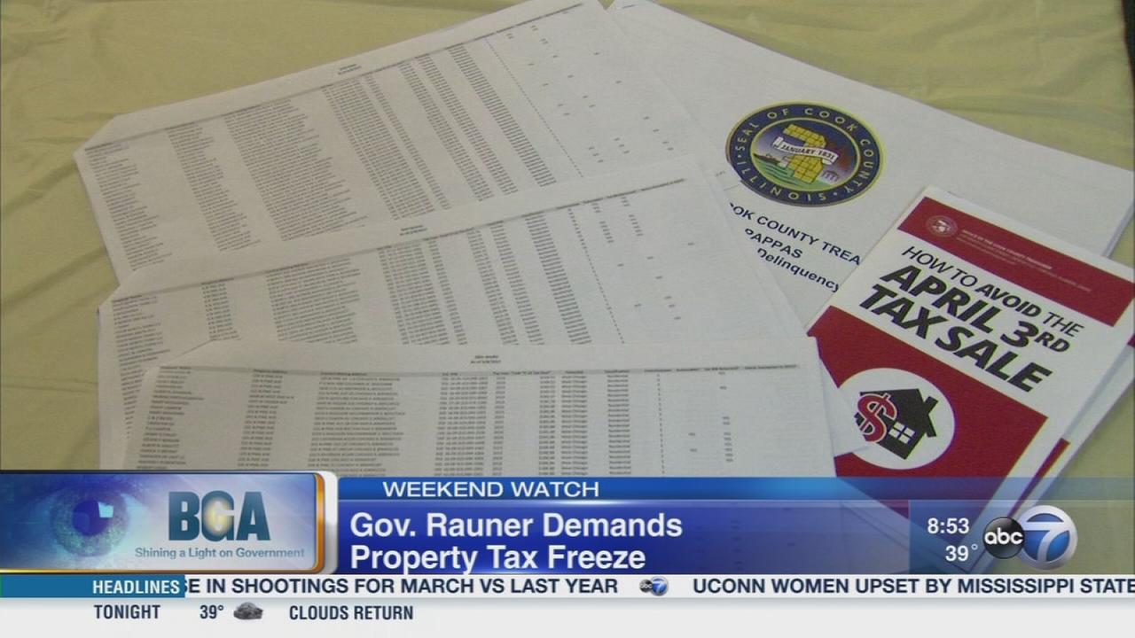 Weekend Watch: Property tax freeze