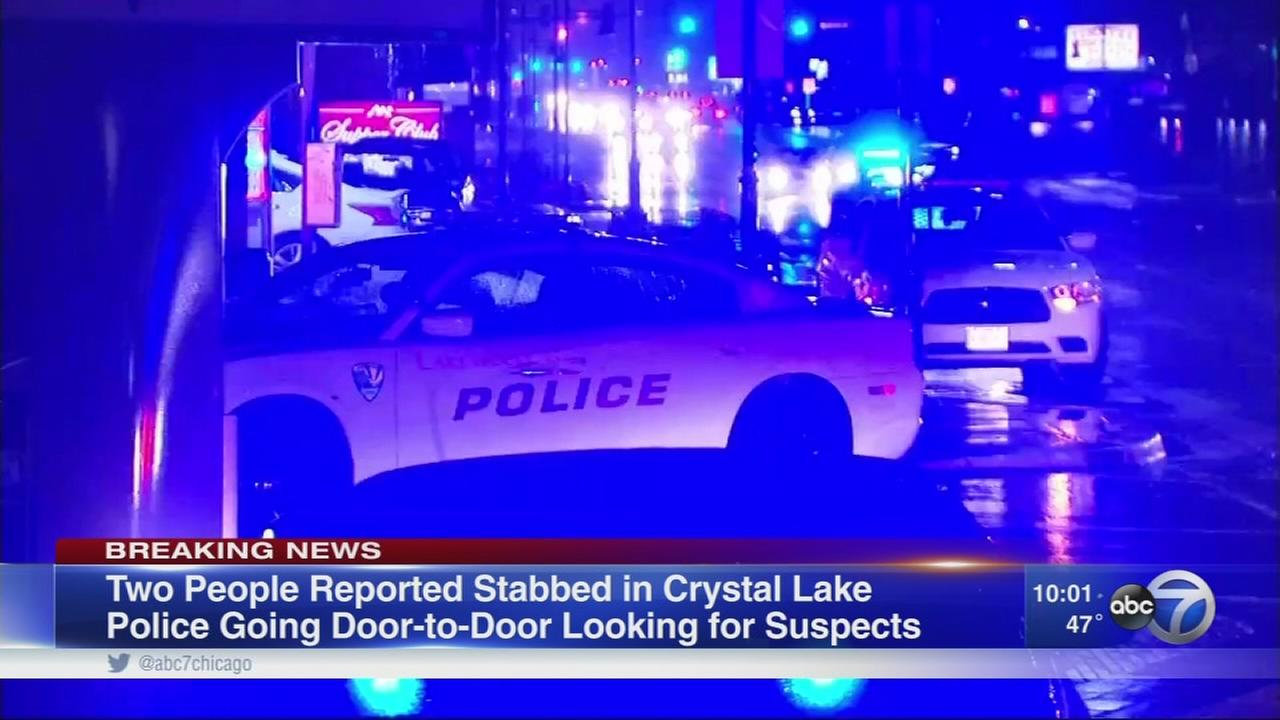 There are reports of two people stabbed in the parking lot of a Taco Bell in Crystal Lake, but police have not yet confirmed them.