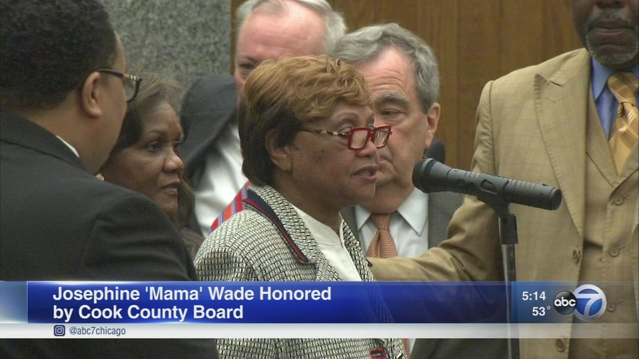?Mother Wade? honored by Cook County Board