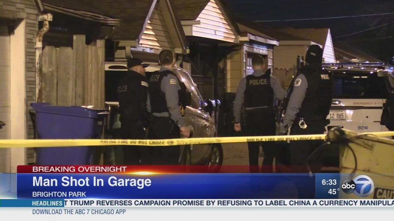 Man shot in Brighton Park garage