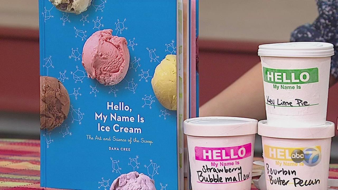 Pastry chef writes book about ice cream