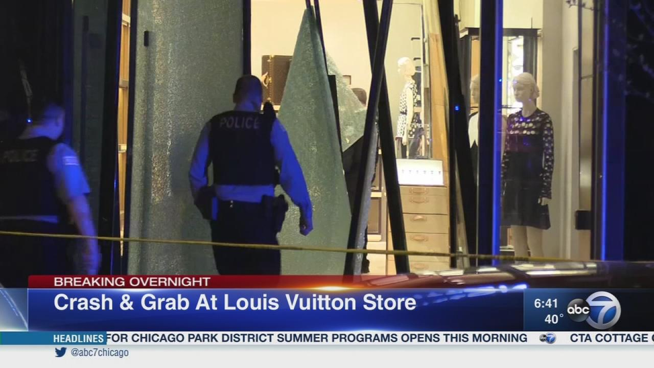 Crash-and-grab burglars hit high-end Mag Mile store