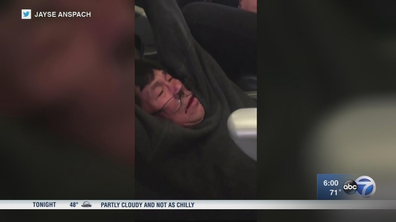 Airport police records, recordings show United passenger as aggressive, combative