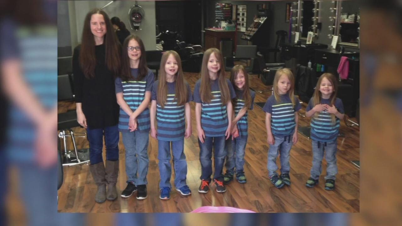 Family donates 17 feet of hair
