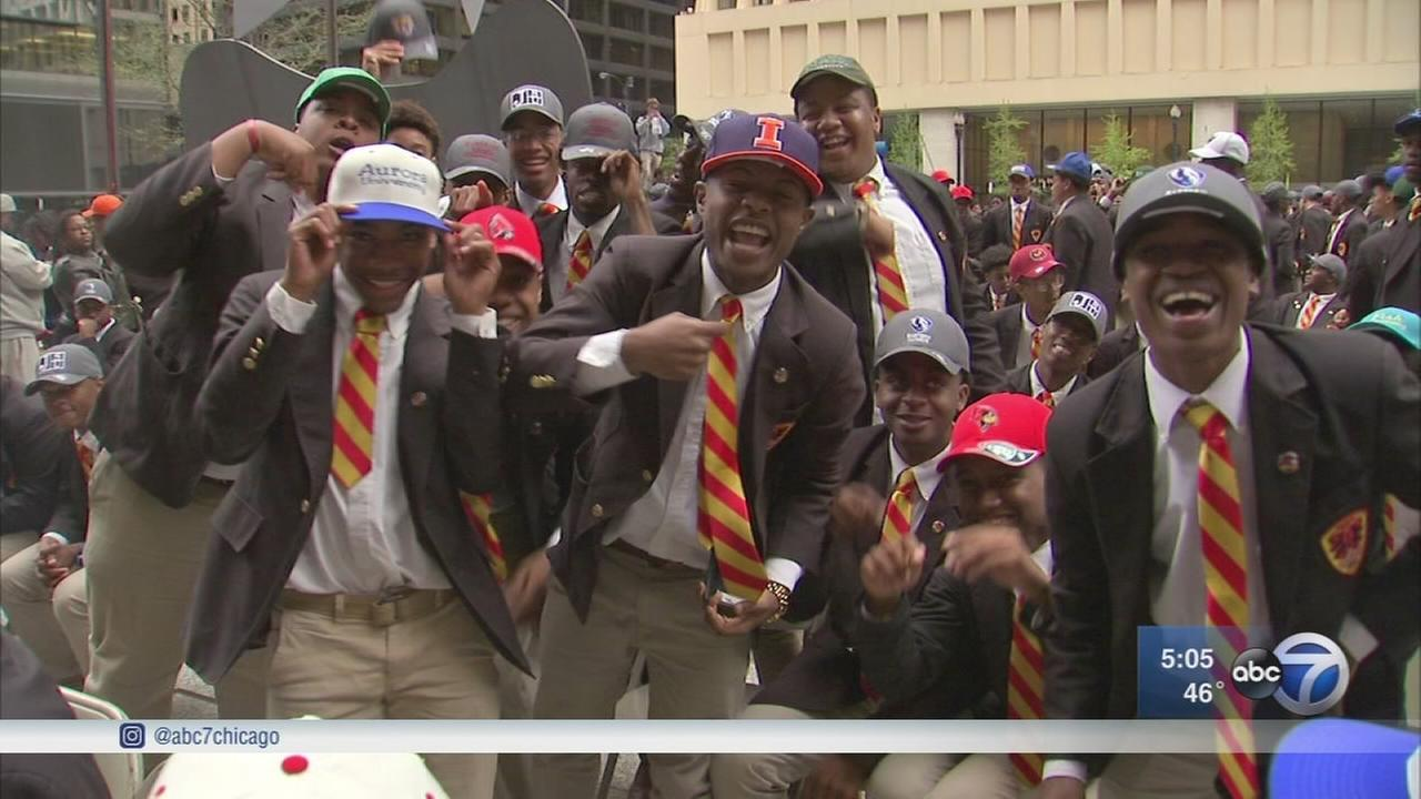 Urban Prep High School students honored