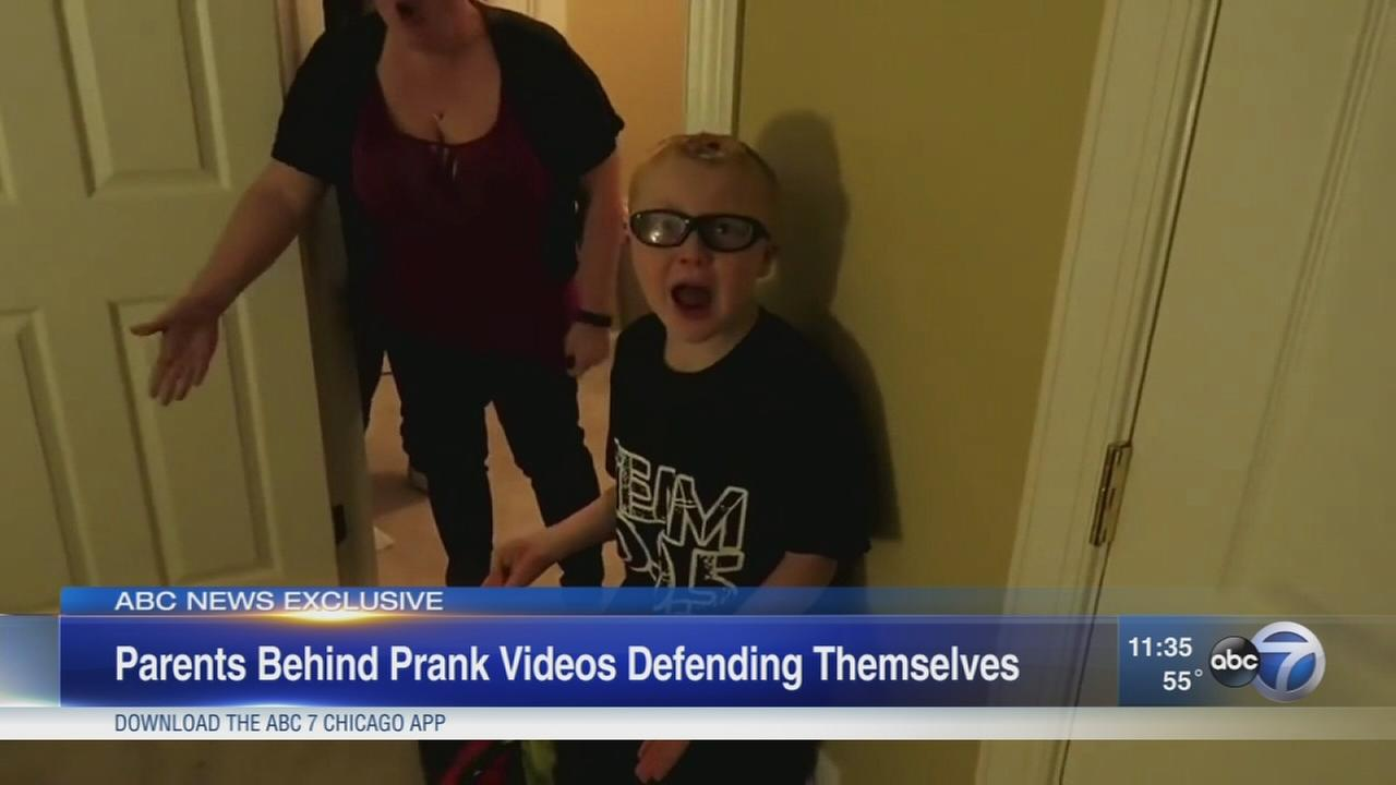 Parents reveal reason behind prank videos